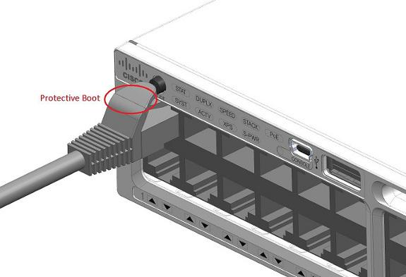 Cisco switch: insert patchcord - press reset